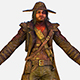 Game Character Cowboy Leather Coat Wide-Brimmed Hat