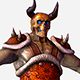 Game MMO RPG Character Skull Monster Santa