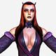 Game MMO RPG Character Armored Succub Women Elf