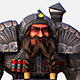 Game Character Mailed Armored Metal Gnome Robot