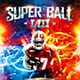 American Football Super Ball Flyer vol.10 - GraphicRiver Item for Sale