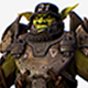 Game Character Armored Military Troll Orc