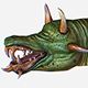 Game MMO RPG Character Green Lizard Dragon