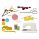 Flat Vector Set of Objects Related to Sewing - GraphicRiver Item for Sale