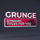 50 Grunge Titles - VideoHive Item for Sale