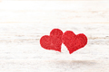 Red hearts shape float in the air - PhotoDune Item for Sale