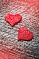 Red felt love hearts - PhotoDune Item for Sale