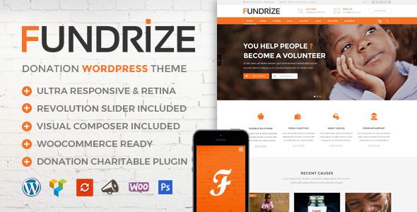 Fundrize | Responsive Donation & Charity WordPress Theme - Charity Nonprofit