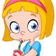 Girl Drinking from a Can - GraphicRiver Item for Sale