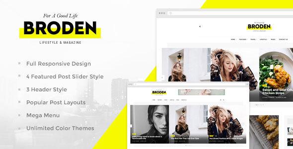 Broden – Lifestyle Blog / Magazine Free Download