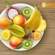 Realistic Fresh Healthy Summer Food Concept - GraphicRiver Item for Sale