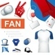 Realistic Fans Accessories Collection - GraphicRiver Item for Sale