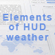 Elements of HUD weather