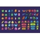 Collection of Colorful User Interface Assets - GraphicRiver Item for Sale