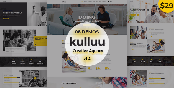 Kulluu - Creative Agency WordPress Theme - Creative WordPress