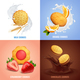Cookies Concept Icons Set - GraphicRiver Item for Sale