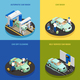 Carwash Concept Icons Set - GraphicRiver Item for Sale