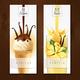Vanilla Dessert Realistic Banners - GraphicRiver Item for Sale