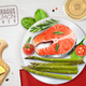 Asparagus Salmon Dish Realistic Image - GraphicRiver Item for Sale