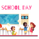 School Class Cartoon Illustration - GraphicRiver Item for Sale