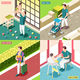 Fathers on Maternity Leave 2x2 Design Concept - GraphicRiver Item for Sale