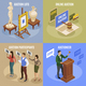Auction Isometric Concept Set - GraphicRiver Item for Sale