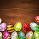 Easter Eggs Background Top - GraphicRiver Item for Sale
