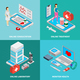 Mobile Medicine Concept  Icons Set - GraphicRiver Item for Sale
