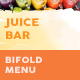 Juice Bar Bifold / Halffold Menu 2 - GraphicRiver Item for Sale