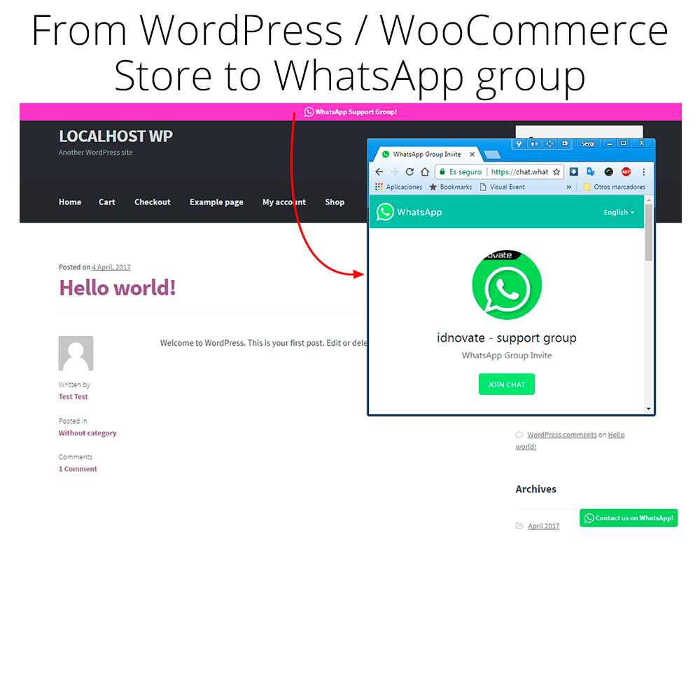 WhatsApp Chat and Share for WordPress / WooCommerce