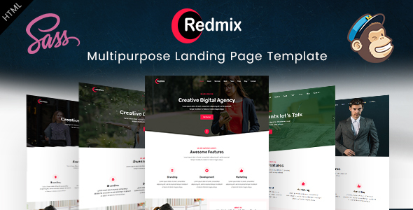 Redmix- Multipurpose Landing Page Template - Business Corporate