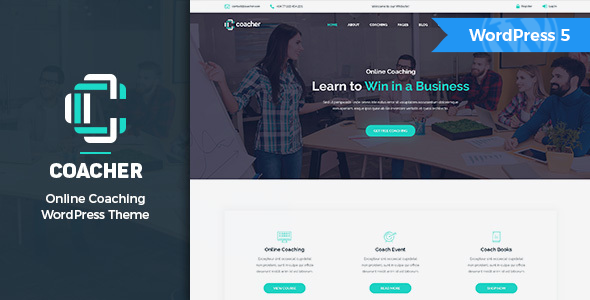 Coacher - Trainers & Life Coaching WordPress Theme