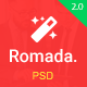 Romada - Startup Agency SasS PSD Template - ThemeForest Item for Sale
