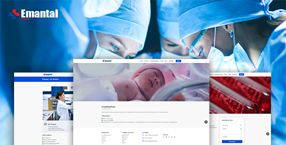 Emantals – Hospital Management System with Website - CodeCanyon Item for Sale