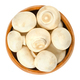 Whole white champignon mushrooms in wooden bowl - PhotoDune Item for Sale
