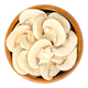 Sliced white champignon mushrooms in wooden bowl - PhotoDune Item for Sale