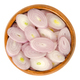 Sliced shallots in wooden bowl over white - PhotoDune Item for Sale