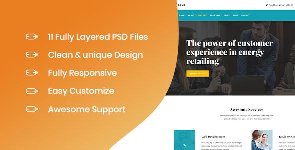 Rubien - Business PSD Template - PSD Templates