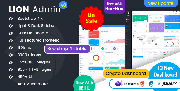 Lion - Responsive Bootstrap 4 Admin Dashboard Template and WebApp Template - Admin Templates Site Templates