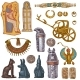 Egyptian Vector Ancient Sarcophagus Pharaoh - GraphicRiver Item for Sale