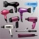 Hair Dryer Vector Fashion Hairdryer of Hairdresser - GraphicRiver Item for Sale