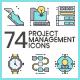 Project Management Icons - Aqua Series