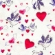 Happy Valentines Day. Seamless Pattern with Red - GraphicRiver Item for Sale