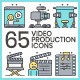 Video Production Icons | Aqua Series