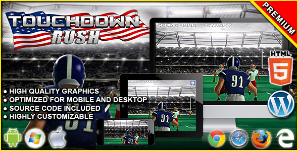 Touchdown Rush - HTML5 Sport Game - CodeCanyon Item for Sale