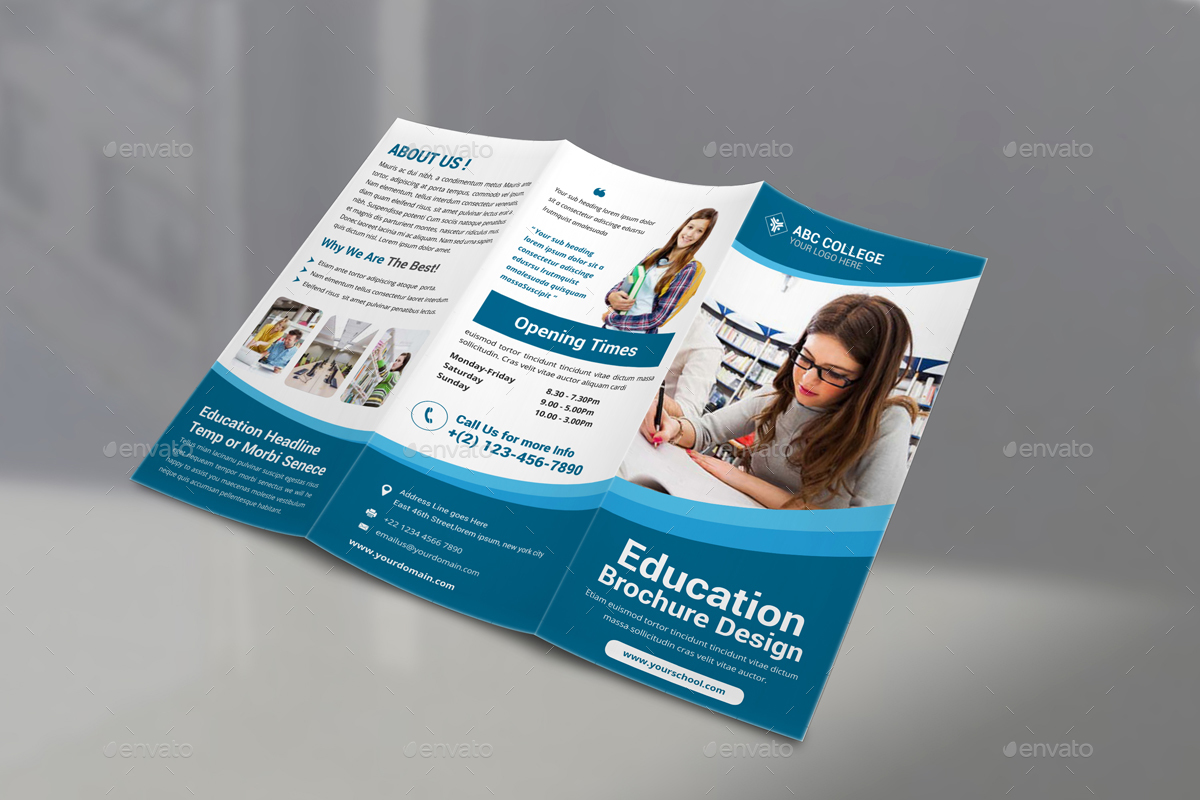 education brochure design pdf Intended For Ngo Brochure Templates