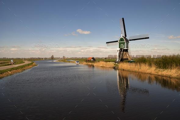 Windmill the Achterlandse molen - Stock Photo - Images