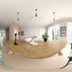 Spherical 360 panorama projection Scandinavian style interior design 3D rendering - PhotoDune Item for Sale