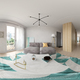 Spherical 360 panorama projection Scandinavian style interior design 3D rendering - PhotoDune Item for Sale