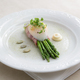 Green asparagus with poached egg on a plate - PhotoDune Item for Sale